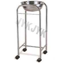 Stainless Steel Medical Trolly of Single Basin