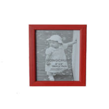 Red Wooden Photo Frame for Home Deco