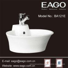 Bacia cerâmica da parte superior contrária da forma de EAGO, dissipador do banheiro