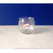180ml Engraved Clear Glass Candle Jar