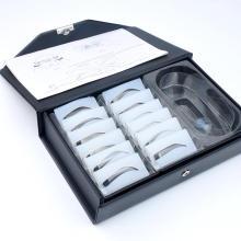 12 Designs Augenbrauen-Microblading-Schablonen-Kit