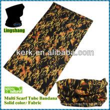 Gelbes und schwarzes Design Camouflage Neck Tube Bandana (Multi_scarf)! Niedrigster Preis, beste Qualität! LSB10