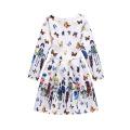 Kinder neuesten Mode Langarm Kind Kleid Design Mädchen Kleid von 9 Jahren alt für Winter Herbst Frühling