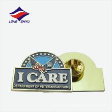 Professional custom hard enamel Veterans glossy lapel pin