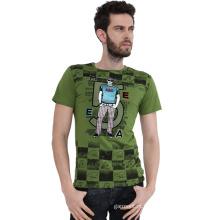OEM fabricante de alta qualidade de impressão de seda de homens Sports T-Shirt