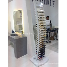 Custom Logo Free Standing 44 Pieces Square Quartz Stone Display Metal Advertising Tile Show Stand