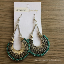 Retro Engraved Earrings with Fabric