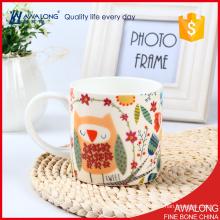 Trade assurance customerized bulk capacity Colorful white bone china mugs