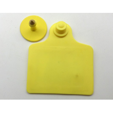 Plastic animal ear tag for sheep and livestock
