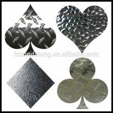 placa en relieve de aluminio para uso antideslizante