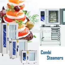 Horno de vapor de Combi del gas / eléctrico comercial de la venta caliente 2017