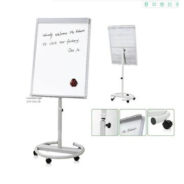 Office Mobile White Flip Chart Easel movable whiteboard