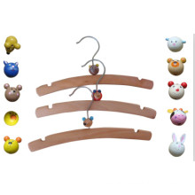 Kids Wooden Hanger with Plastic Animals