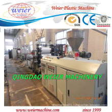 PVC Edge Banding Sheet Extruder with Conical Twin Screw From Weier