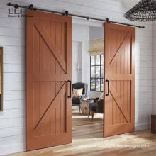 Porte légère en bois de grande taille avec porte coulissante