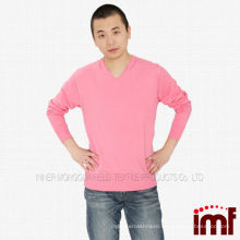 V-neck Knitted Cashmere Sweater for Men