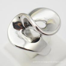 2015 moda jóias de aço inoxidável Sliver Womens anéis espirais