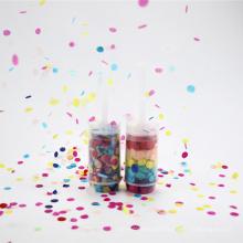 Baby-Dusche-Party-Einzelteil-Art Push Pop Konfetti mit Seidenpapier Confetti