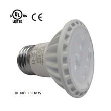 Las luces led de alta calidad de la cubierta blanca UL cUL aprobaron el reflector llevado PAR16 5W en 120V