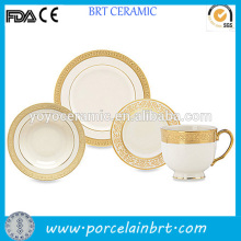 Fine daily use gold tableware