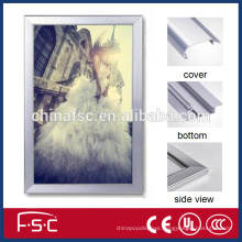 Plastic advertisement frame led aluminum slim light box