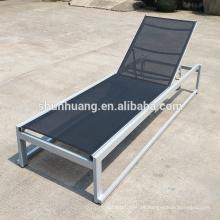 Outdoor chaise lounger rattan aluminum beach sun lounger chair