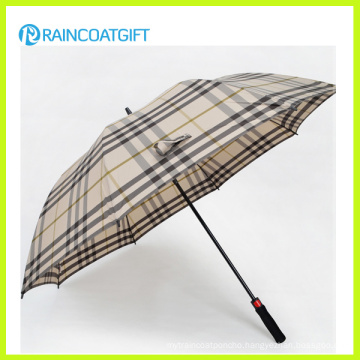 Fashion Plaid Outdoor Straight Rain Umbrella