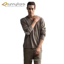 Высокое качество трикотажные 100% кашемир мужские V шеи свитера для осени