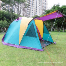 Outdoor Camping Breathable wasserdicht Canopy 3-4 Personen Doppelzelt