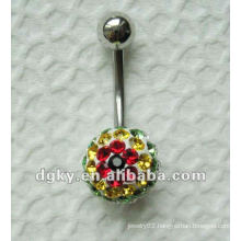 stainless steel piercing navel ring Fancy belly rings mixed