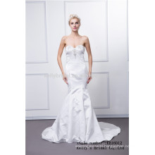 2016 new design off-shoulder bodice accept taffeta wedding dress