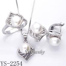 Modeschmuck Perlen Set 925 Silber für Frau (YS-2254)