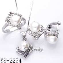 Joyería de moda perla set 925 plata para mujer (ys-2254)
