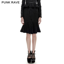 Q-286 PUNKRAVE  tight skirt women plaid skirt punk sexy fishtail skirt punk rave clothes