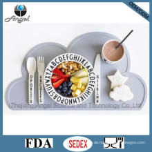 BPA Free Silikon Tisch Matte Pad Tischset für Kinder Kinder Sm08