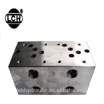 manifold with valves valve milled aluminum blocks