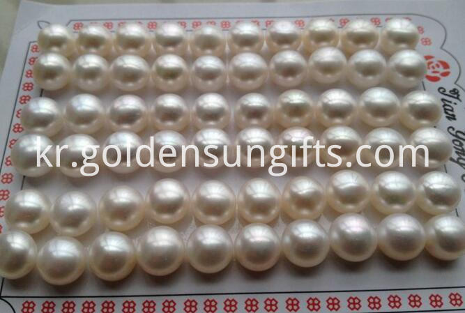 Button Shaped Half Hole Beads