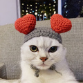 Lovely Heart Shaped Winter Pet Dogs Cats Knitted Hat