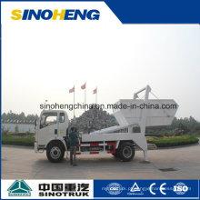 Sinotruk 4X2 Swing Arm Camião de lixo Skip Loader 8cbm (5 ton)