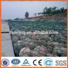 гальванизированная коробка gabion/gabion каменная коробка/ПВХ покрытием габионных сетки