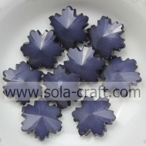 Fashion Jewelry Component Snowflake Crystal Glass Beads With Solid Black 14MM