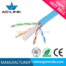 Factory OEM customized lan cable 305m/roll solid copper twin cable cat6