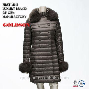 2017 Fashion casual women's dowm jacket with fox fur