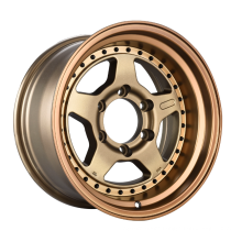 Aluminum Alloy SUV Wheel Bronze With Rivet