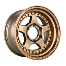 Aluminum Alloy SUV Wheel Bronze With Rivet