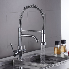 YL701  new fashion style pull out kitchen faucets withchrome plating kitchen mixer