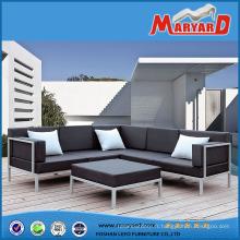 Meubles de jardin extérieurs en aluminium de sofa en métal de sélectionnel