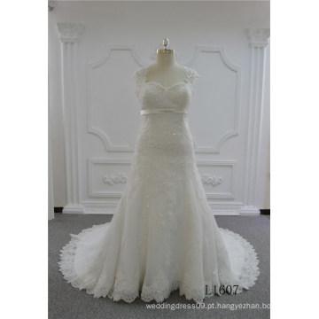 Querida sereia vestidos de casamento longo marfim vestido de noiva de renda