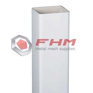 White PVC Square Post for Pagar