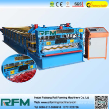 Glazed tile forming machine, glazed steel roofing tiles making machinery